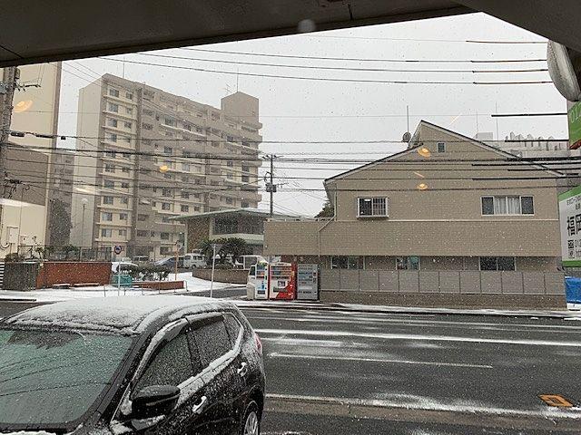 雪が吹雪いています 北九州市小倉北区
