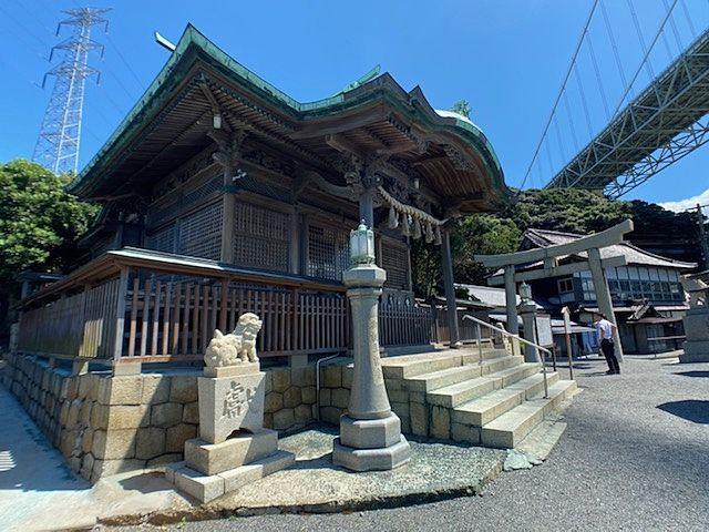 和布刈神社 関門橋下