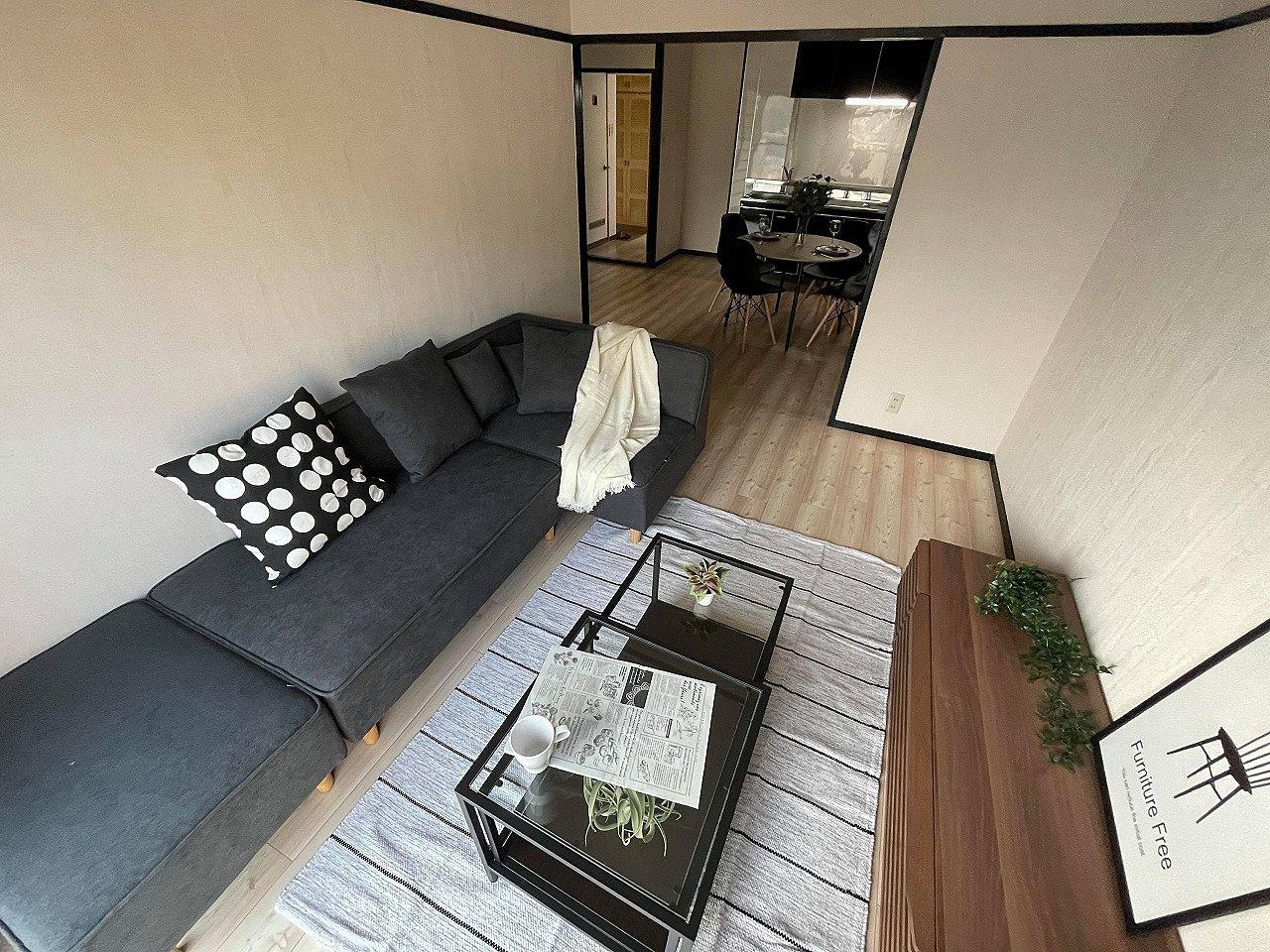 売出し中の「エメラルドハイツ大里Ⅱ502号」新品家具の搬入が完了しました(^^)/