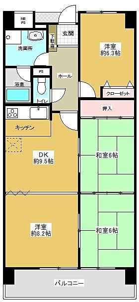 家事動線に配慮した間取りです。広げて区切って用途に合わせることができます。