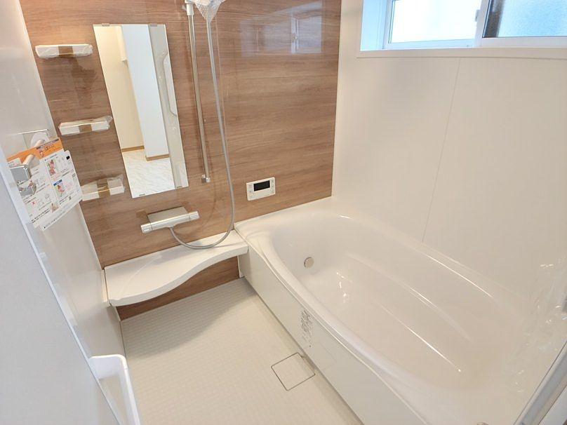 一日の疲れを癒せます。浴室乾燥暖房機付き。