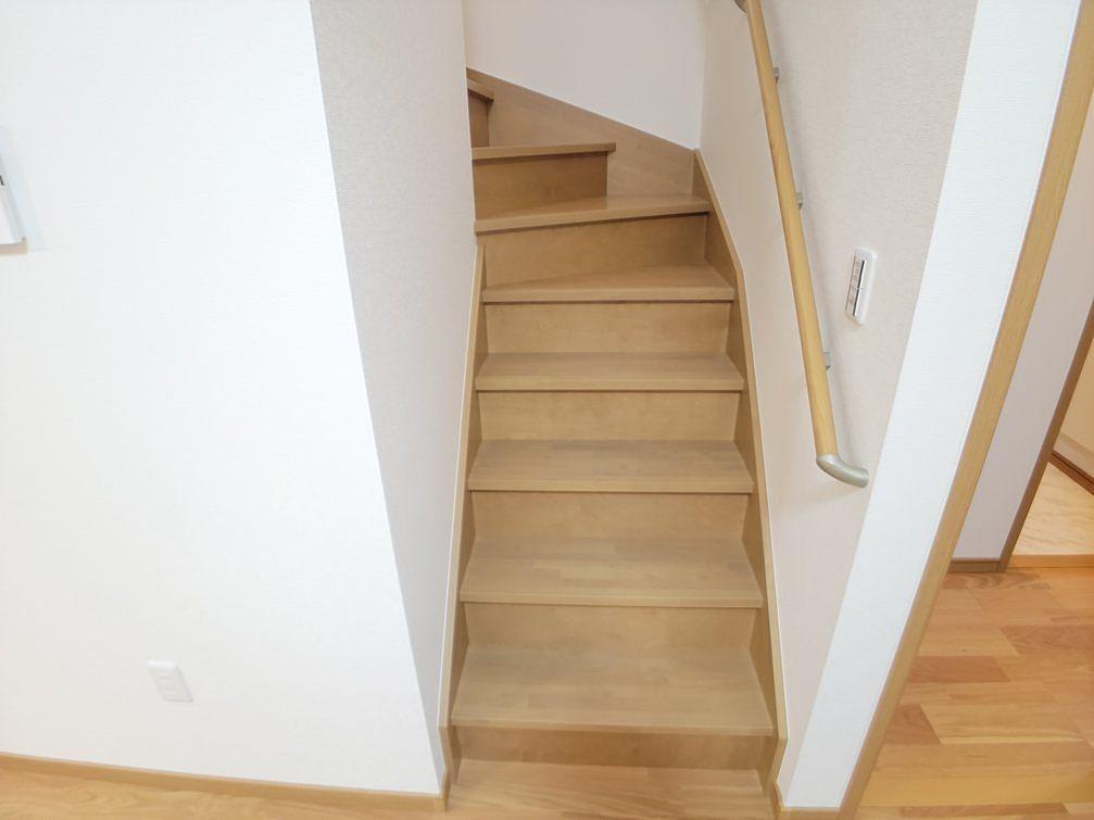 人気のリビング階段です。