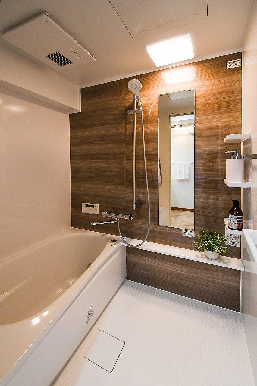 追焚機能付きの浴室。いつでも温かいお風呂に入れます(^^)/