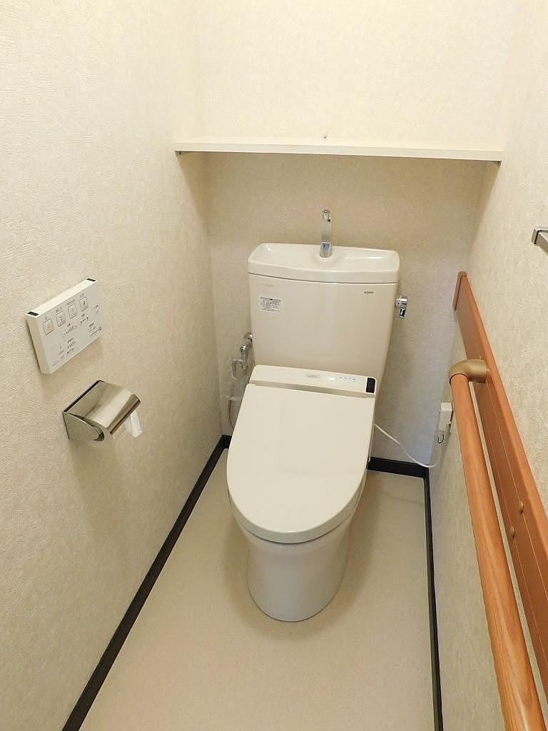 ウォシュレット付きのトイレ‼