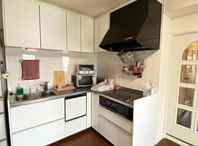 L型のキッチンは料理がしやすいですね。